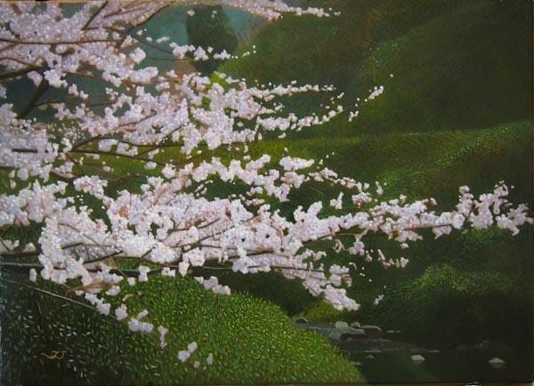油彩作品風景
