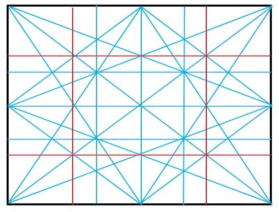長方形の構図